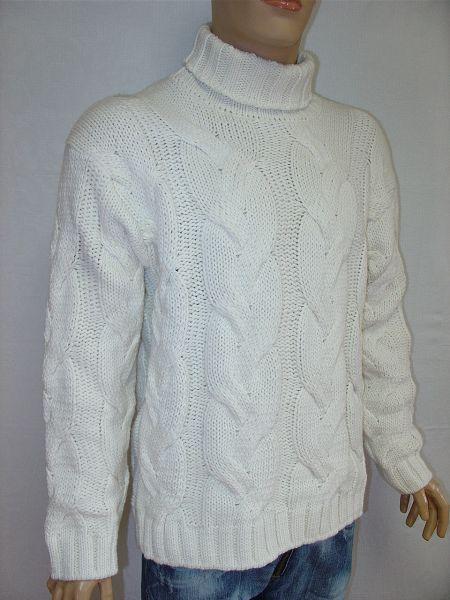 Гость: схема вязания мужских свитеров с горлом крупной вязки.
